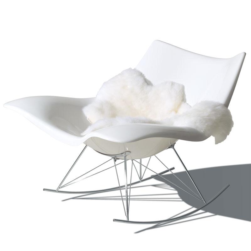 stingray gyngestol hvid plast