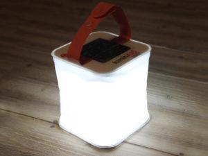 oppustelig solcellelampe