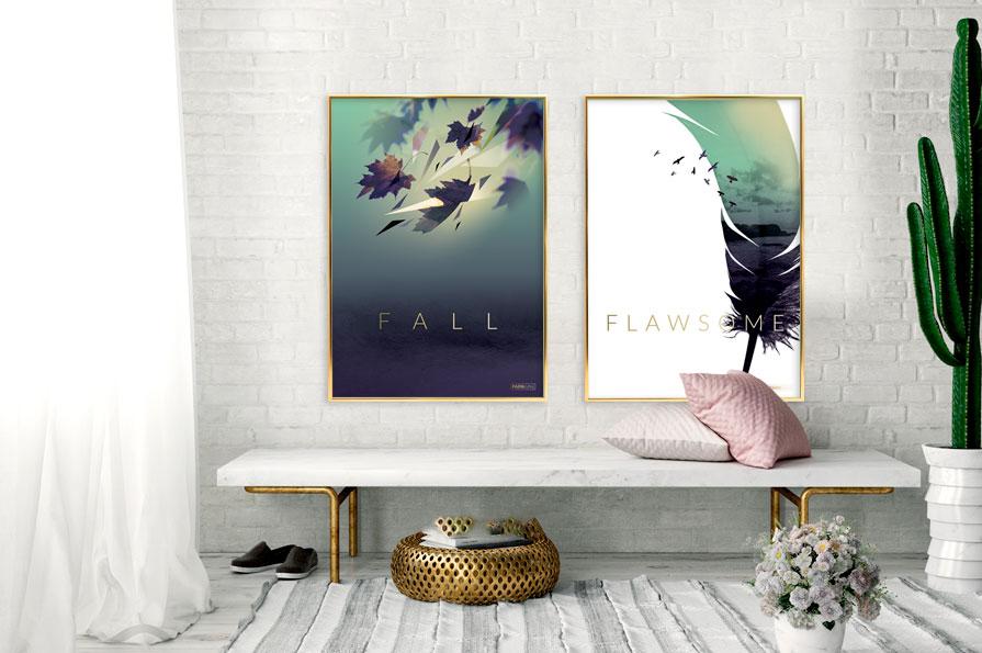 Elegante plakater
