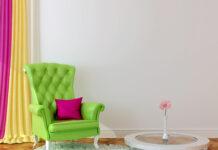 Farverig boligindretning